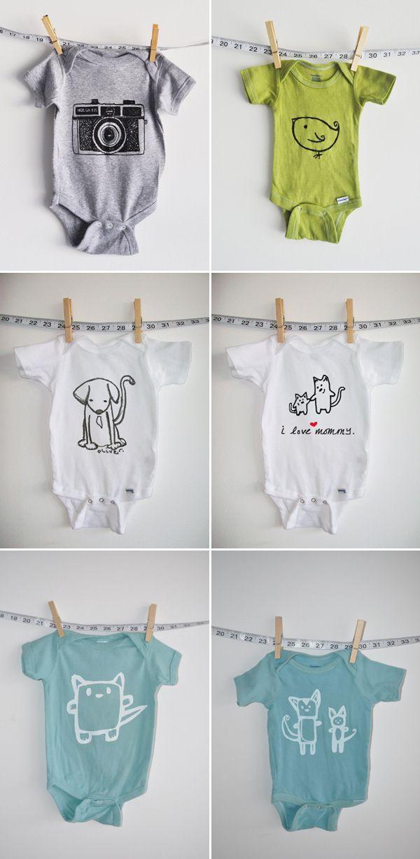 Stylish Unisex Baby Clothing. So hard to find cute unisex stuff. <3 this.