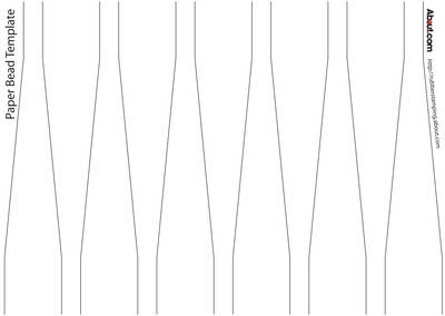 Template For Paper Beads Crafts Beads Wir Beads Jewellery
