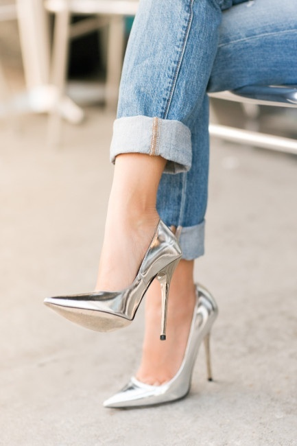 Silver shoes! Want!