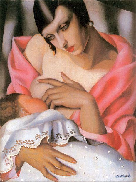 Breastfeeding | Tamara De Lempicka (date unknown) #art #breastfeeding