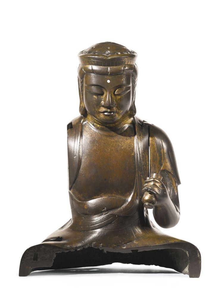 A bronze figure of Ekadashamukha Lokeshvara, Japan, 14th century
