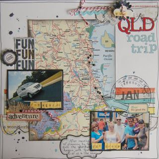 I love the idea of putting in a map of where you vacationed!