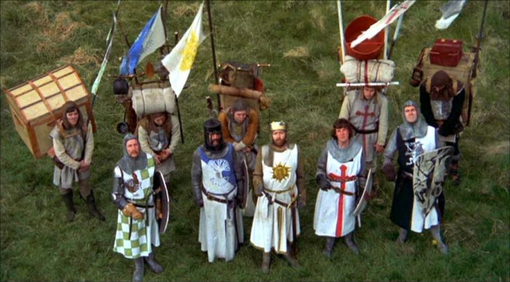 """monty python holy grail coconuts   ... from Monty Python """"Quest for the Holy Grail""""   J.B. Farrell"""