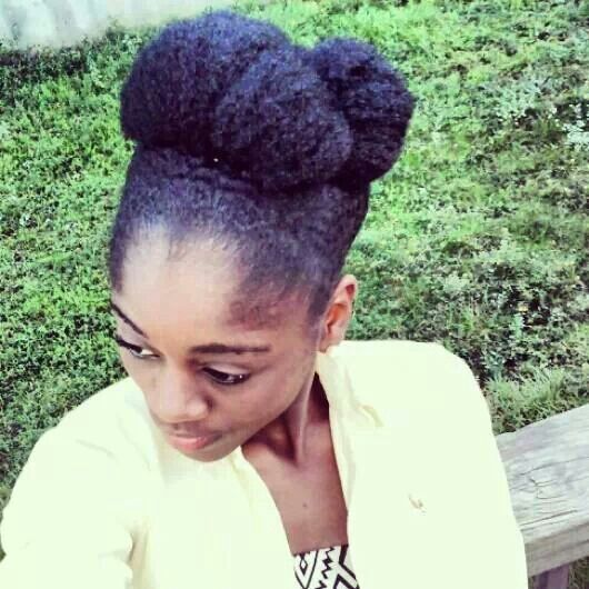Natural Hair Bun Short Hairstyle 2013
