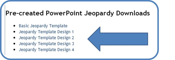 Easy Jeopardy Template  easy jeopardy powerpoint template