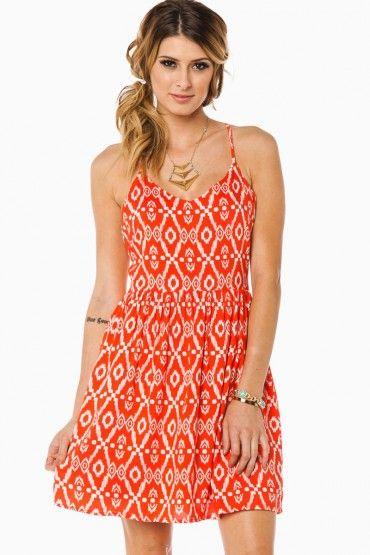 summery // Martinique Cutout Dress in Orange
