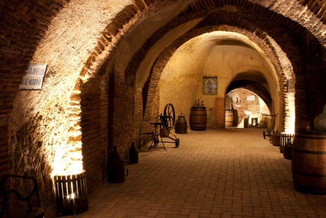 Underground corridors Bodegas Mocén