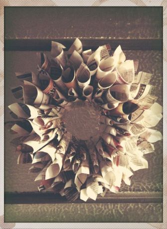 Recyclable Paper Christmas Wreath