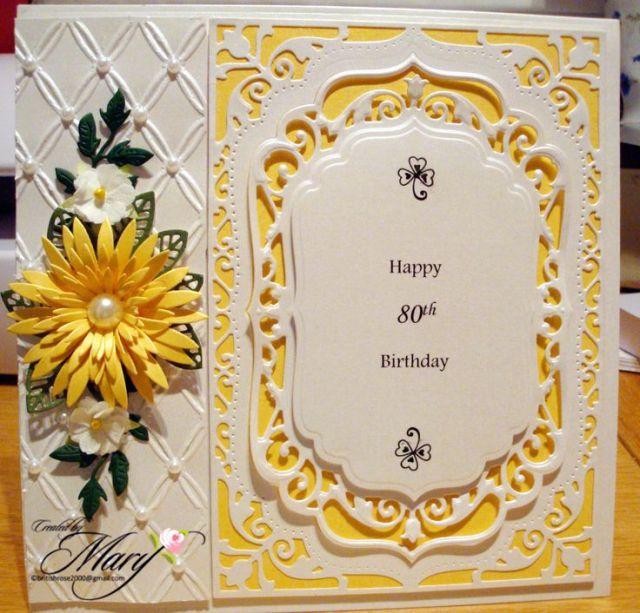 80th birthday card my cards pinterest