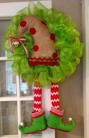 Elf Wreath  Deco Mesh by BsHandmadeItems on Etsy