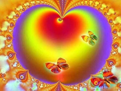 rainbow color heart hearts pinterest