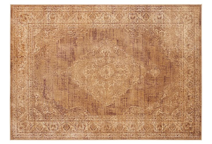 Medlin Rug, Taupe | Cool & Current | One Kings Lane - Good Browns, but purples might clash?