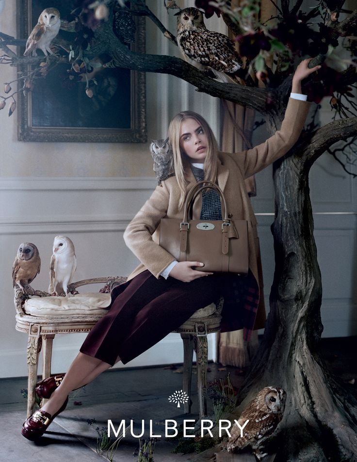 Mulberry #AW13 campaign starring Cara Delevingne, shot by Tim Walker.