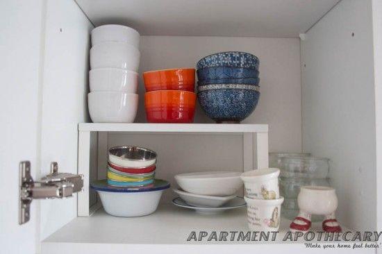 Shelves on a shelf