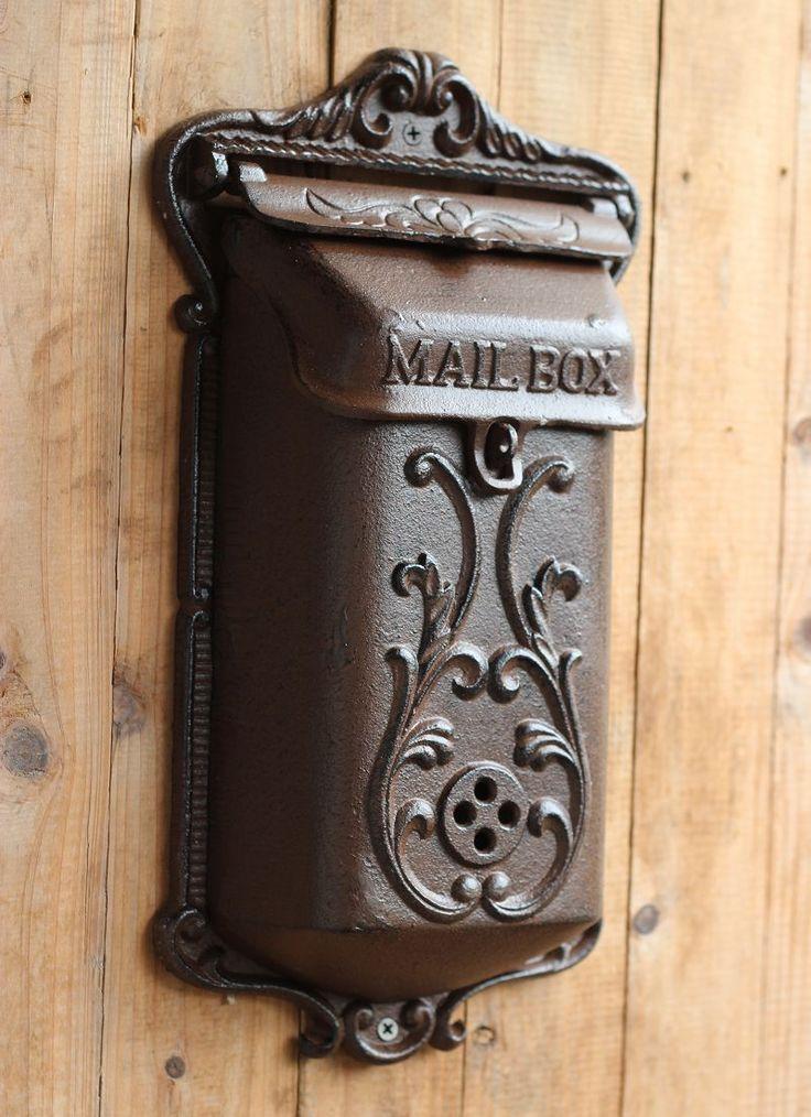 Vintage fashion iron mailbox pillar-box wrought iron decoration 1308 3303,64 руб.
