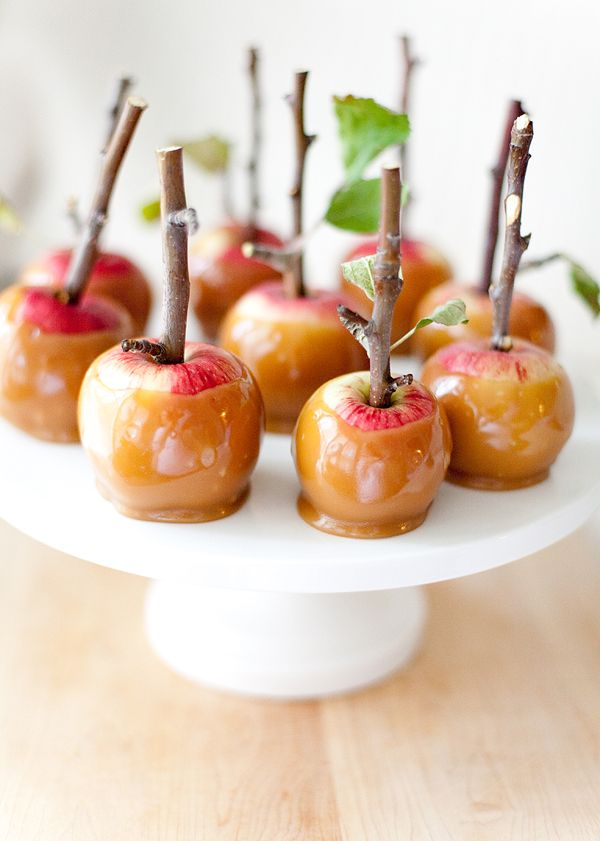 caramel apples. omg with the little sticks...