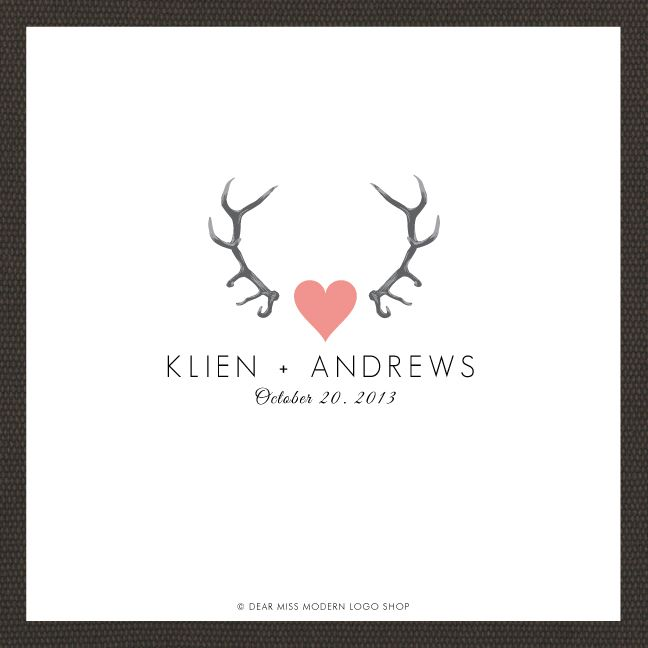 Quirky wedding logo! #custommonograms #weddingmonograms