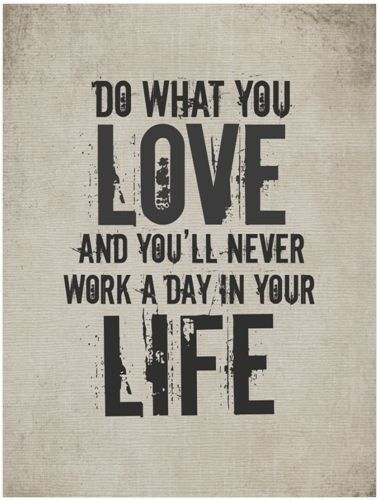 love, work and life