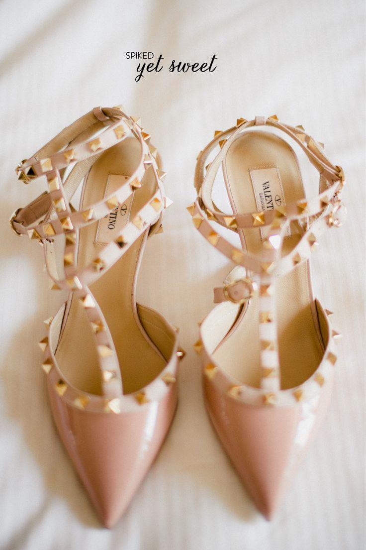 Valentino beauties. #bridal #shoe #wedding. Bridal Shoe Round Up  Photography by judypak.com Read more - http://www.stylemepretty.com/illinois-weddings/2013/08/23/bridal-shoe-round-up/