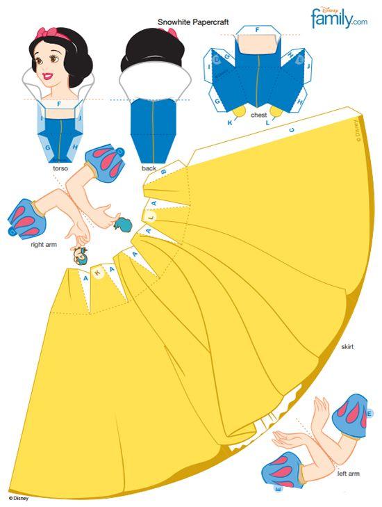 Imprimible recortable de Blancanieves