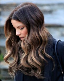 beautiful hair color + soft waves
