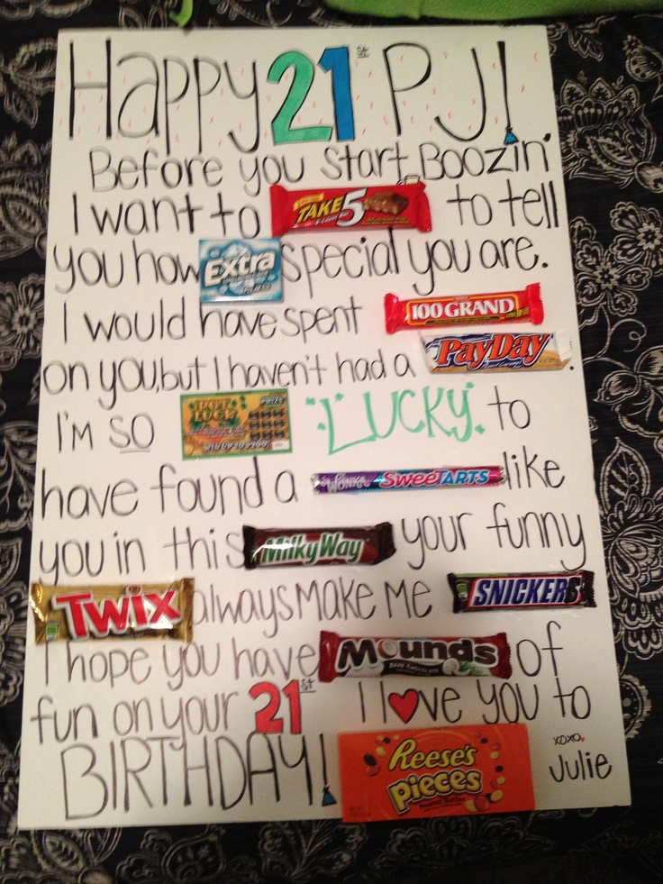 21st Birthday Gift Ideas For Boyfriend
