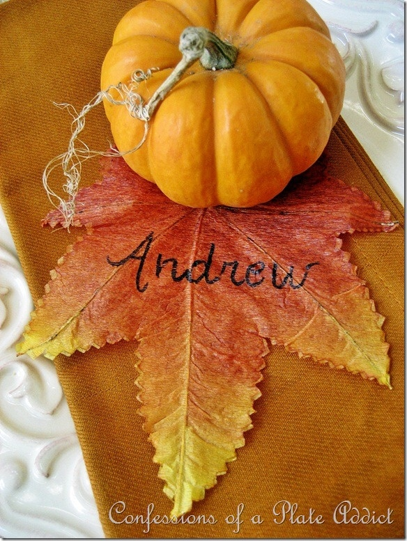 Thanksgiving Name Card