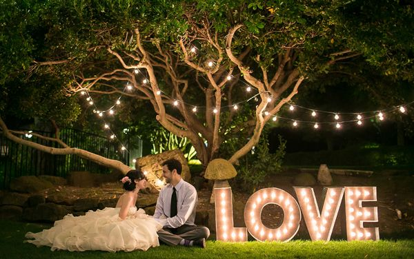 Marquee Lights- 8 Ways to Light Up Your Wedding on earlyivy.wordpress.com