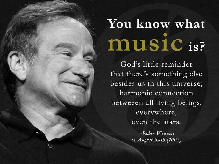Very true about music. Thank you Robin.