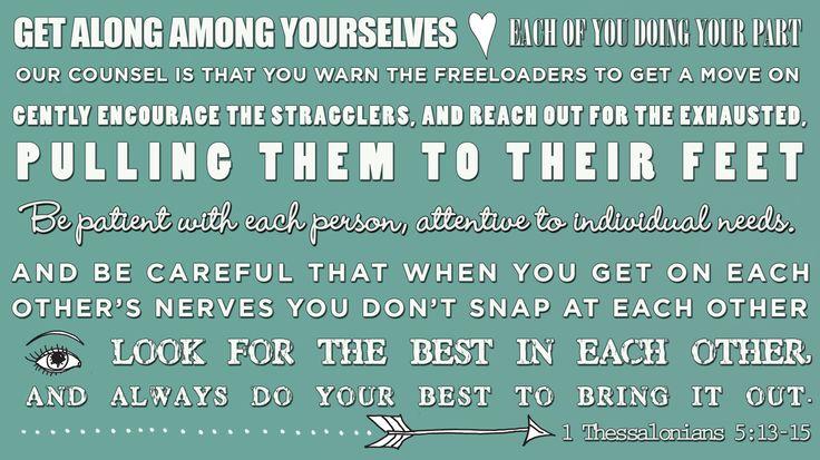 1 Thessalonians 5:13-15