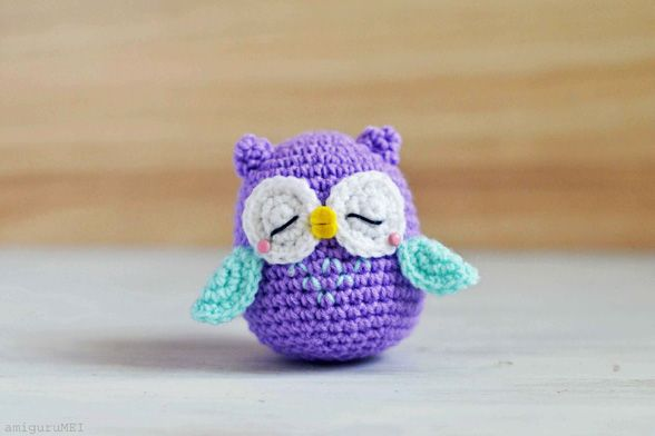 Amigurumi | Owl - Mr. Murasaki | Free Pattern & Tutorial at CraftPassion.com - Part 2   Testé et approuvé :-)