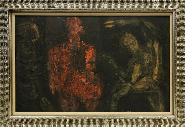 This oil on board painting attributed to the iconic painter Jackson Pollock (Am., 1912-1956) is expected to realize $40,000-$50,000