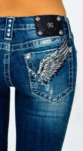 Miss Me jeans!!! My favorite babe brand jeans!!! Fit better than any jeans I have ever tried on!! Plus they have bling on the pockets :)