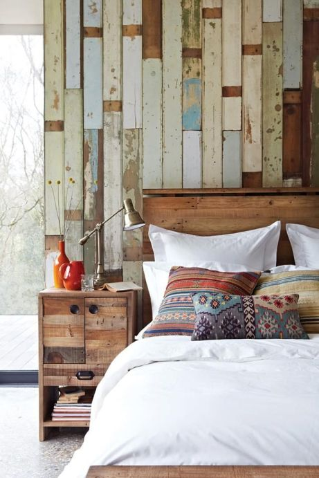Beautiful idea! Another idea: attach long strips of wallpaper to the wall using clips (the kind you use for huge stacks of paper) and nails.