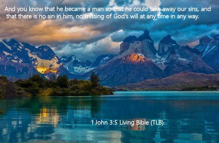 1 John 3.5 Living Bible (TLB)
