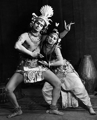 Uday Shankar and Simkie as Shiva and Parvati
