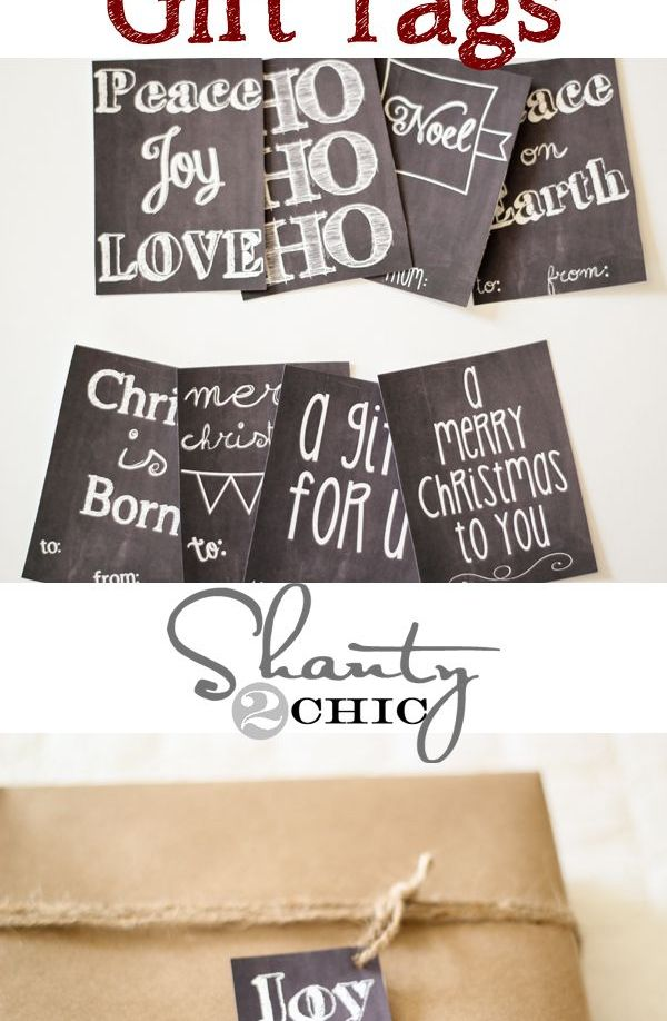 So many FREE Printable Gift Tags!!!  Love them all! #12days72ideas