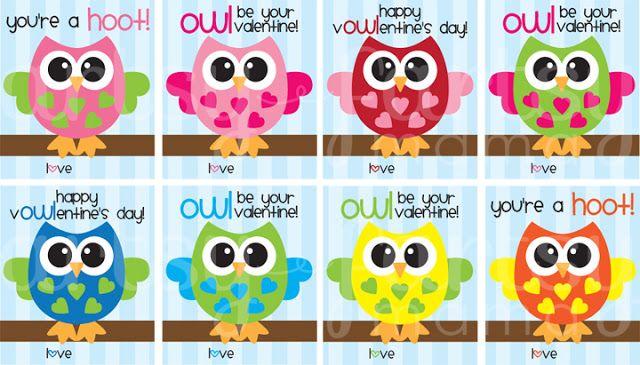 artsy fartsy mama owl valentines printable