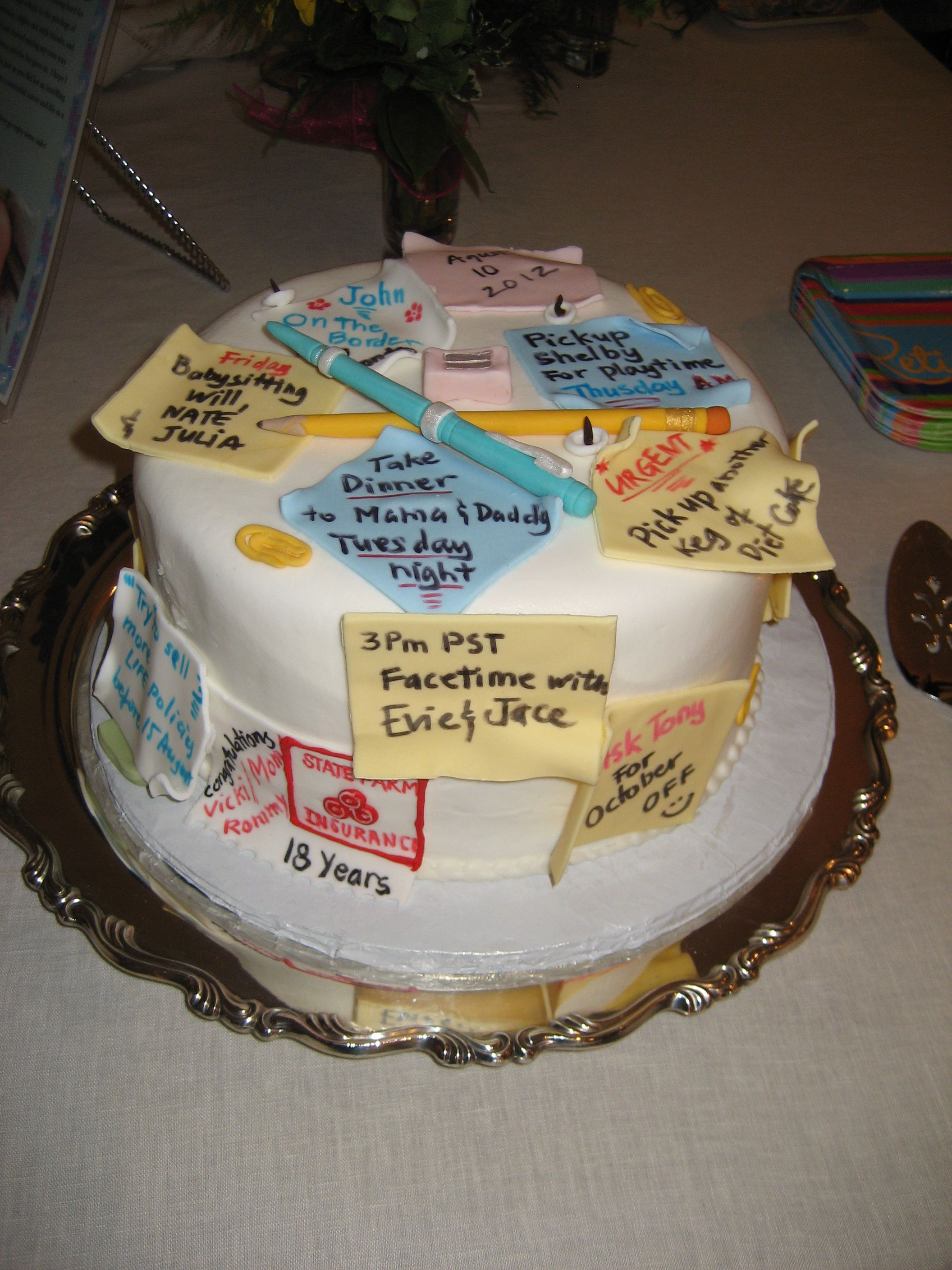 Decorated Retirement Cake Ideas And Designs