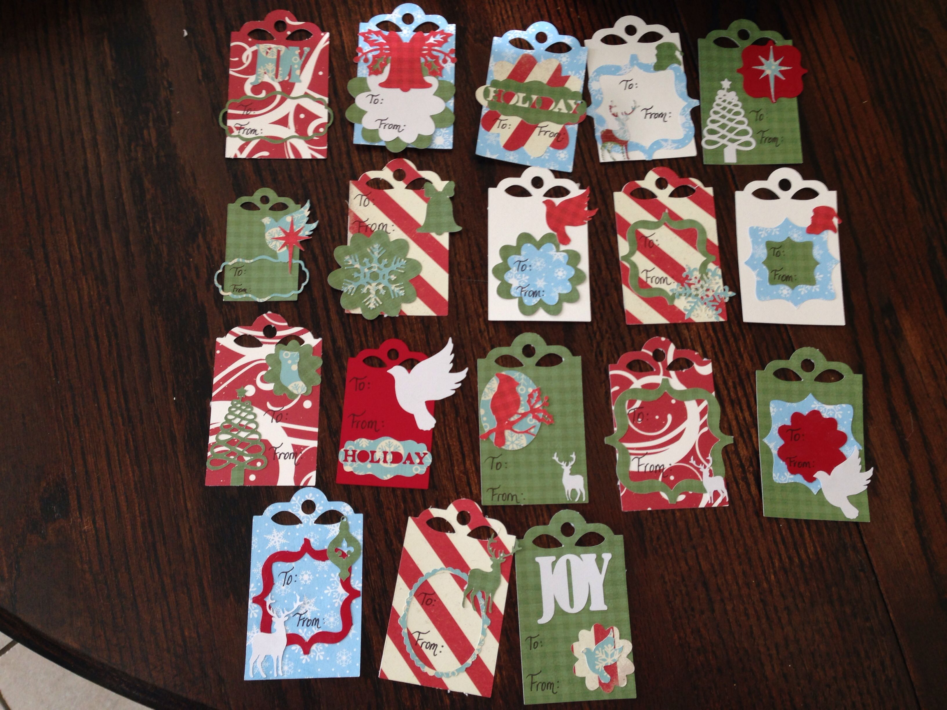 Cricut Christmas Gift Tags Card Making Pinterest