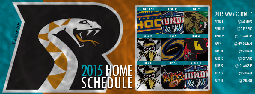 2015 Arizona Rattlers schedule cover image