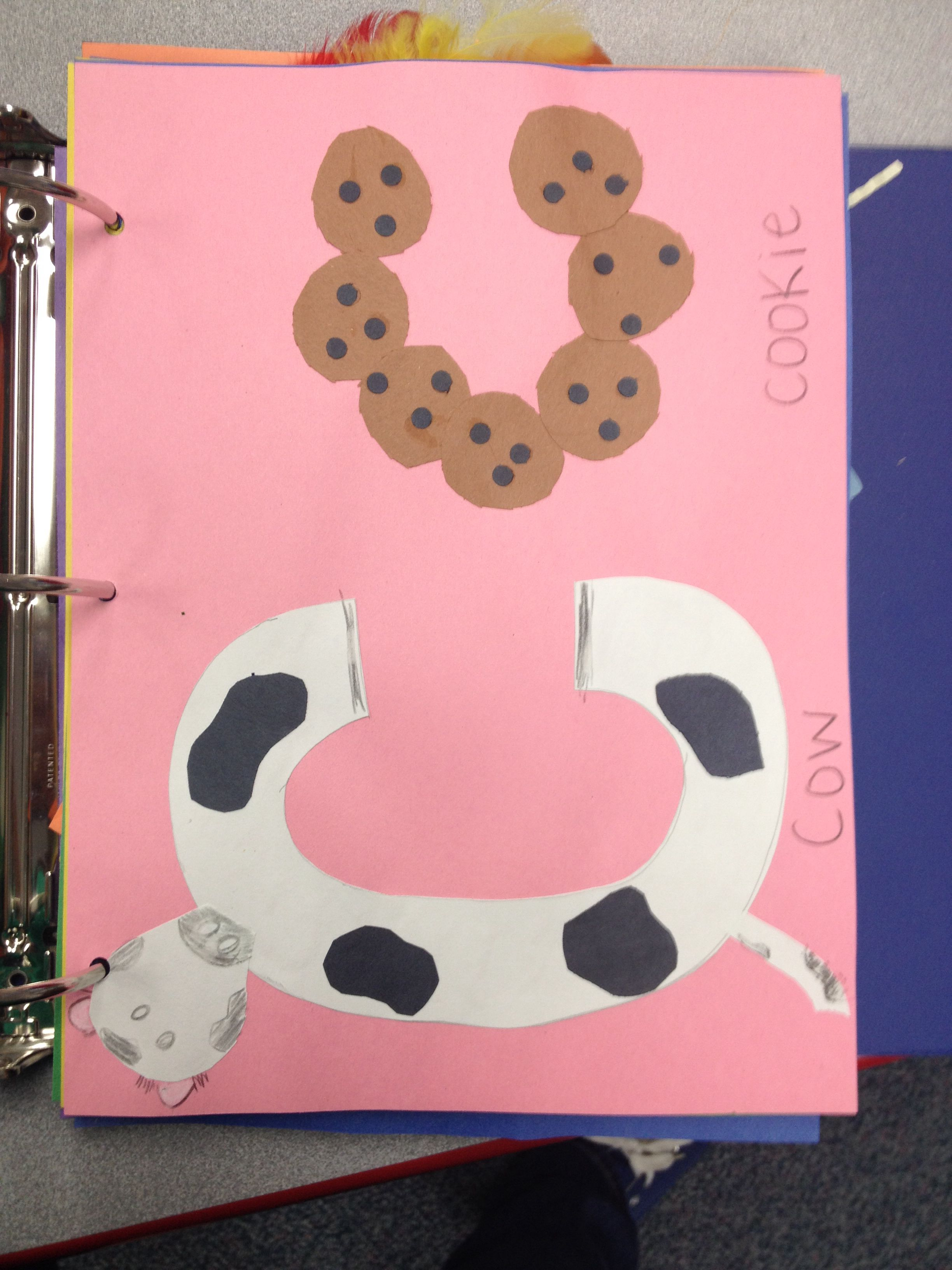 Letter C Crafts Cow Cookie