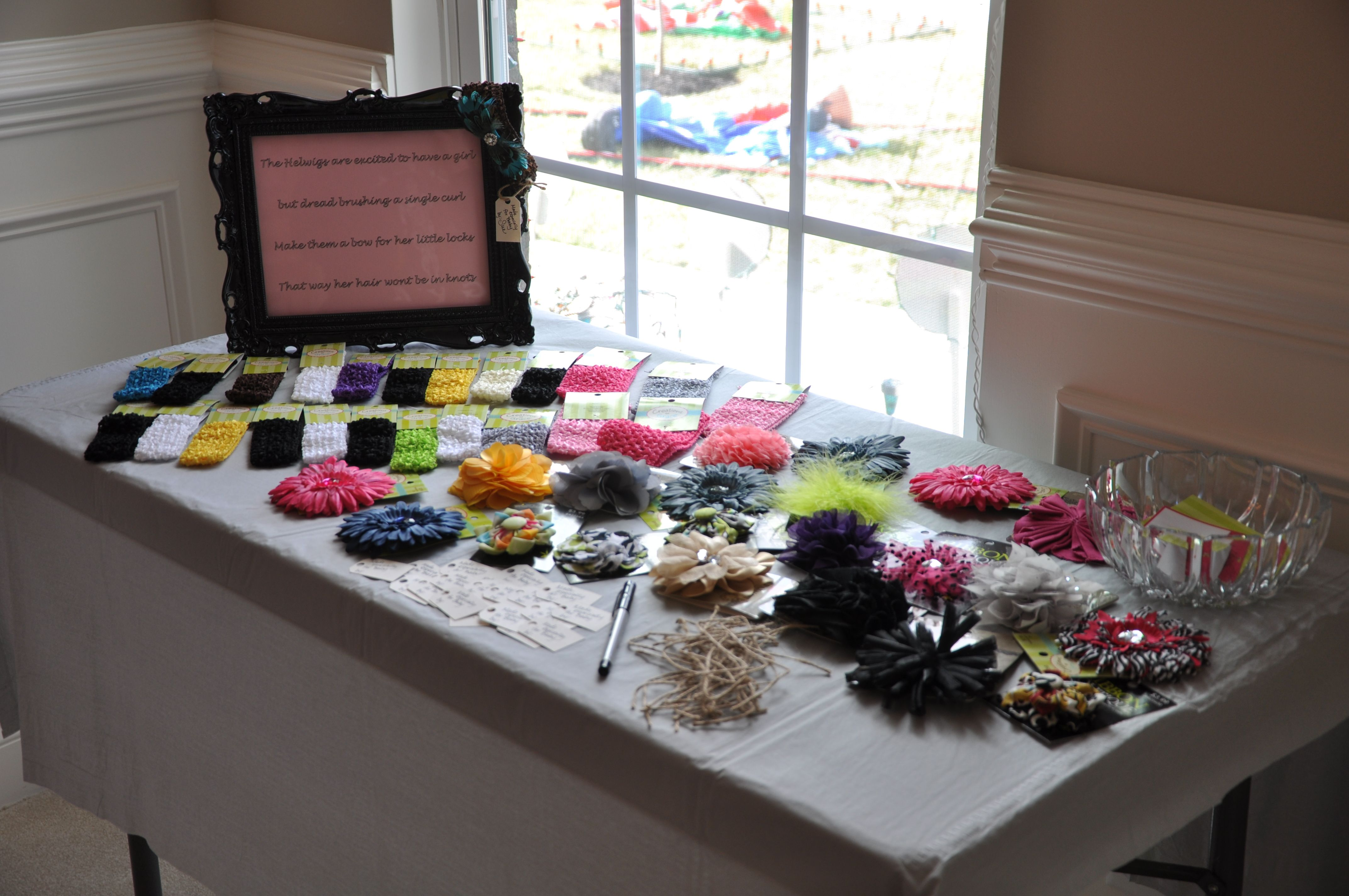 Hair Bow Making Station