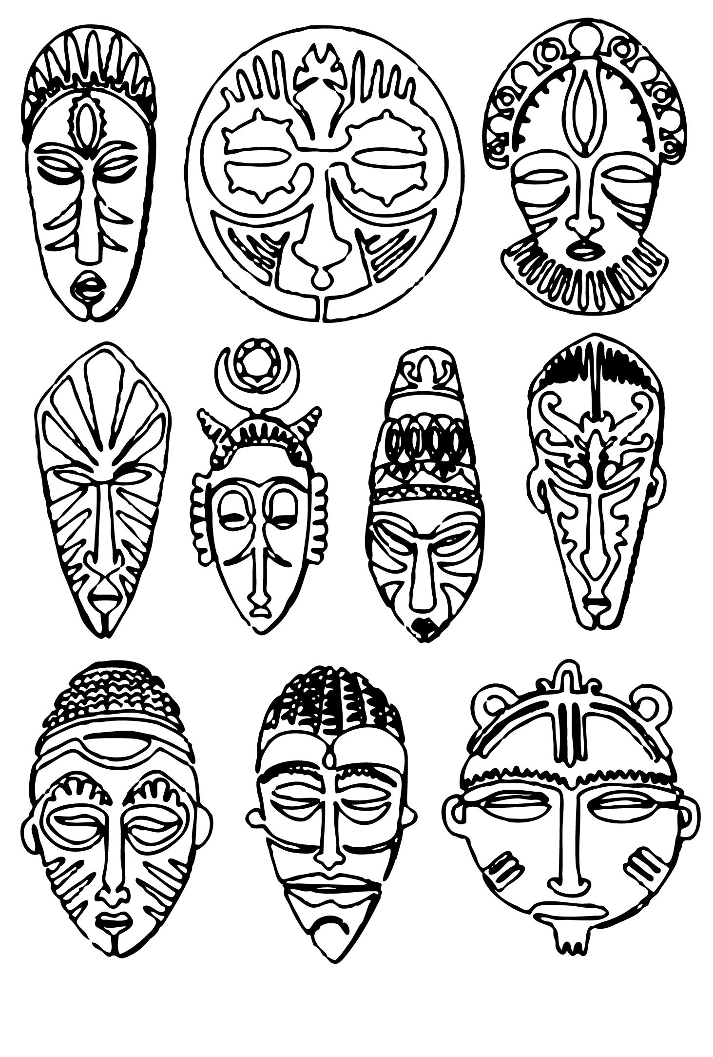 Images About African Spirit Mask Project On