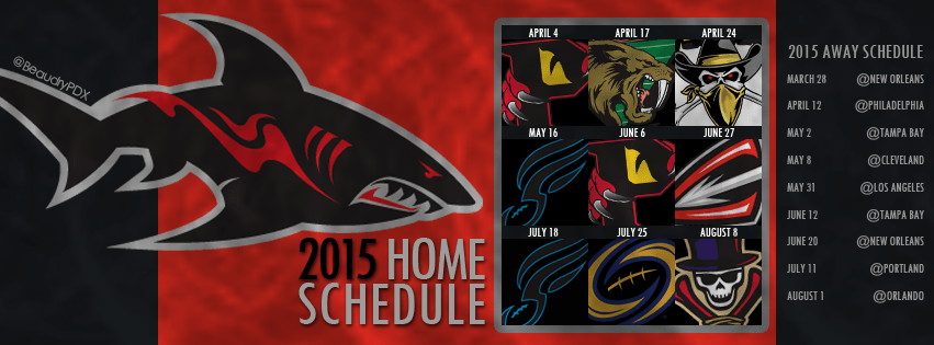 2015 Jacksonville Sharks Schedule Cover Image