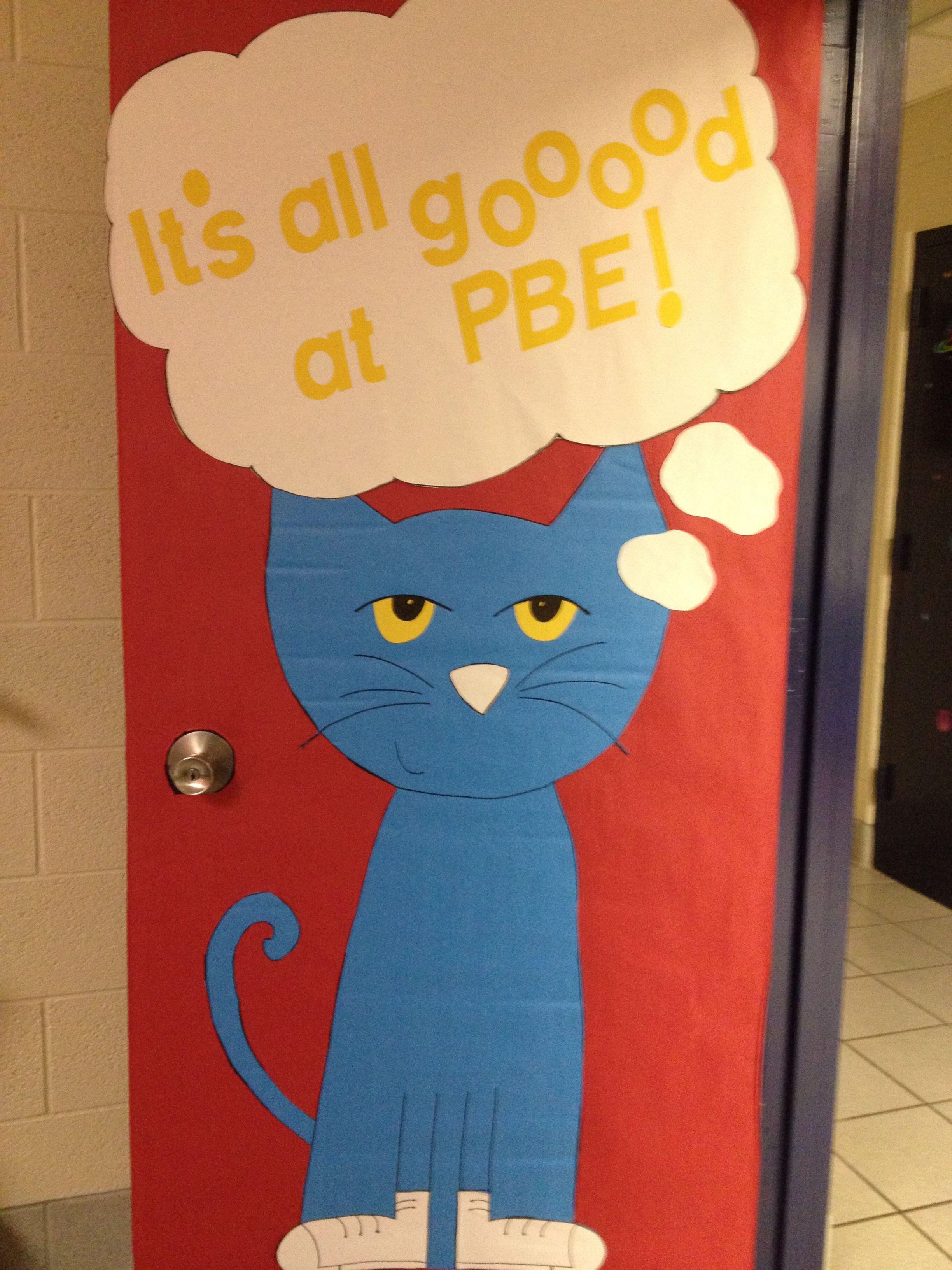 Pete The Cat Door Decoration