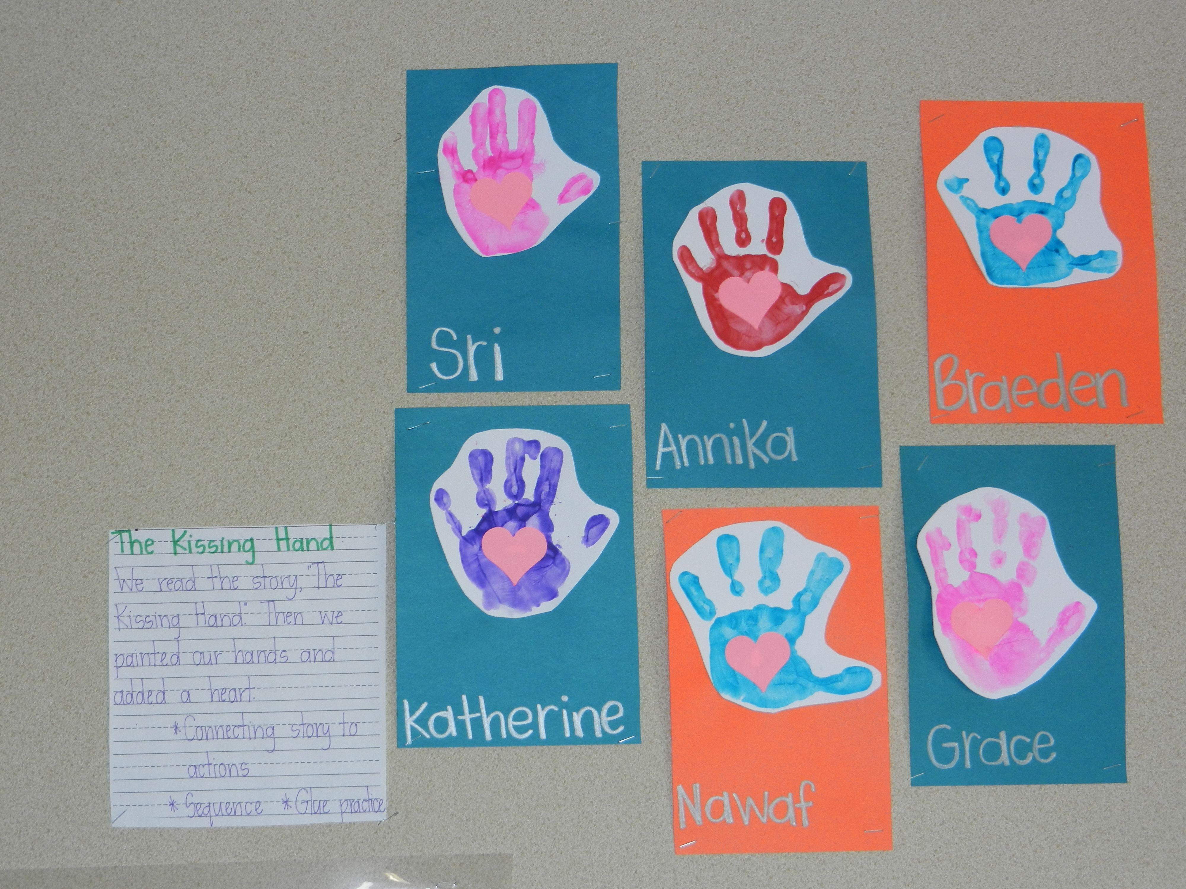 The Kissing Hand Story Activity