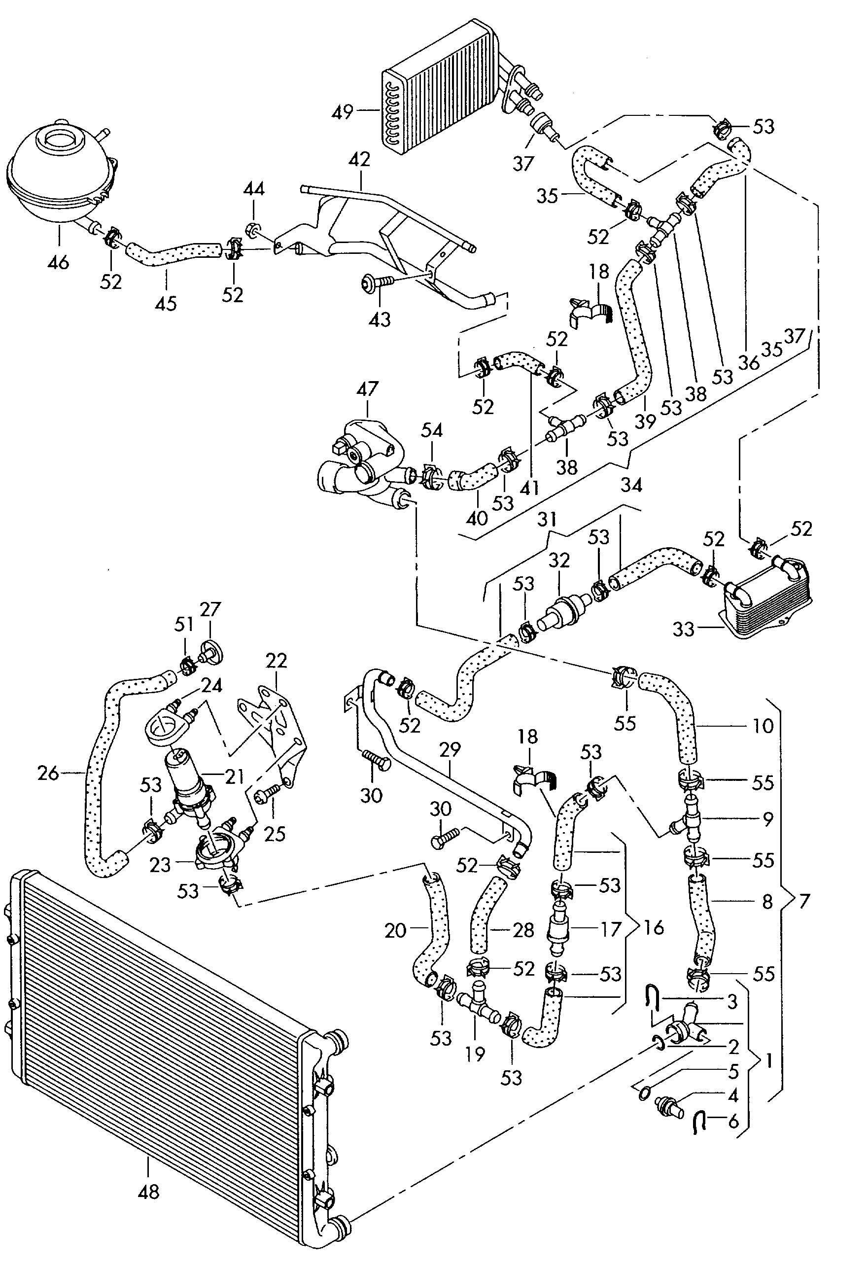 Audi A3 Cooling System Diagram