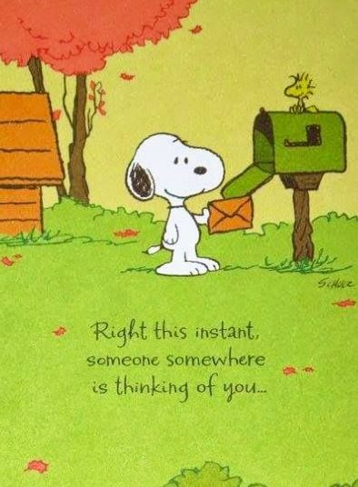 Snoopy Thinking Of You Quotes QuotesGram
