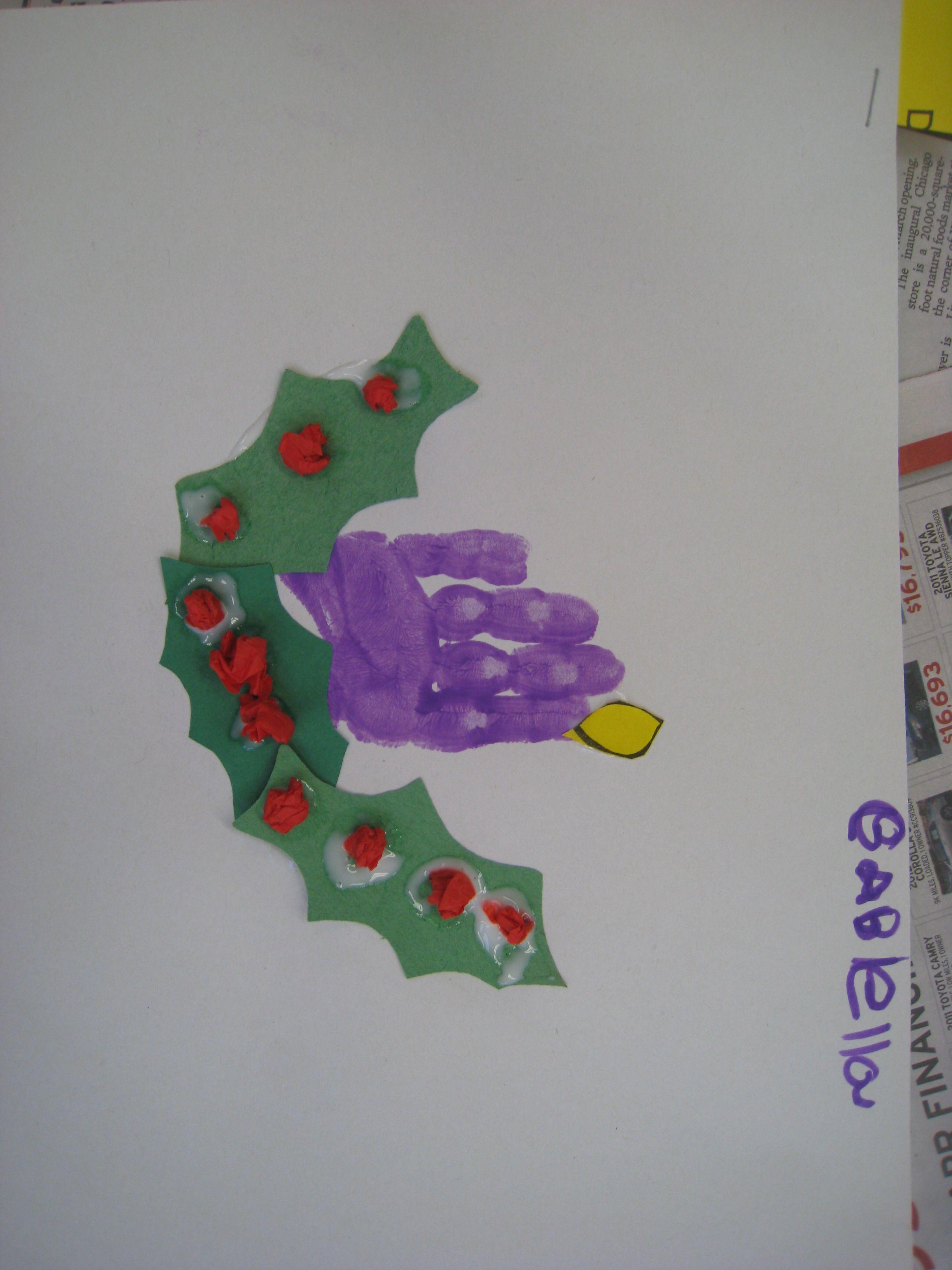 Handprint Advent Wreath